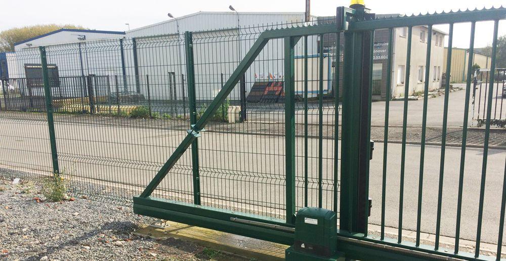 motorisation d'un portail industriel motorisé