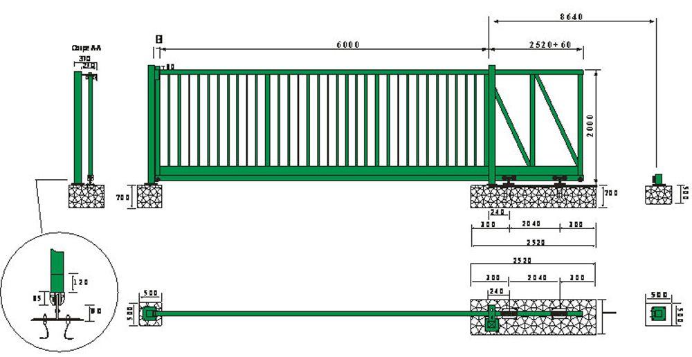 plan de portail industriel